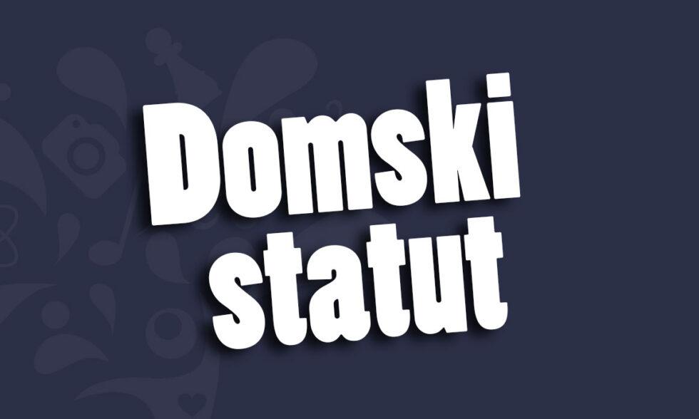 Objava Statuta Doma učenika srednjih škola Bjelovar